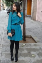 Jaime Mascaró boots - Primark dress - Mango bag