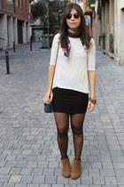 Primark scarf - Coolway boots - Primark bag - asos sunglasses - Zara jumper