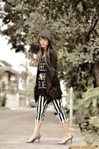 black asymmetrical romwe blazer - black need more sleep romwe top