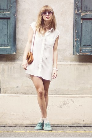 H&amp;M dress - vintage bag - Topshop socks - asos sunglasses - asos loafers