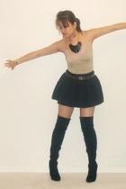 BBDakota jacket - American Rag top - Rampage skirt - boots