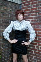 vintage blouse - black Forever 21 dress