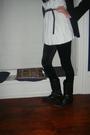 Black-zara-blazer-topshop-leggings-t-k-maxx-top-river-island-scarf-prima
