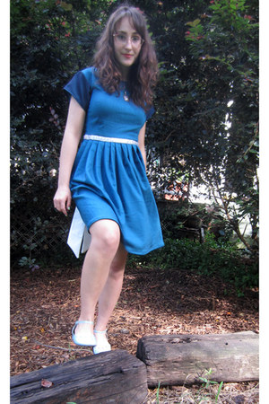 blue short sleeved handmade by me dress