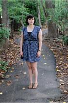 navy everly dress - black Cambridge Satchel co bag - brown Mia sandals