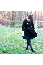 black H&M dress - gray Gap tights - bronze clea by annie costello necklace