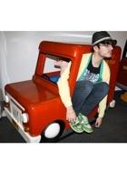 H&M hat - Primark jacket - Topman jacket - pull&bear pants - pull&bear t-shirt -