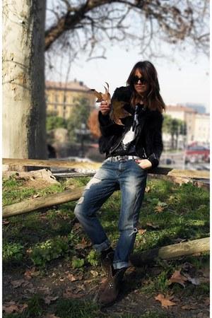 Golden Goose boots - Elisabetta Franchi jacket