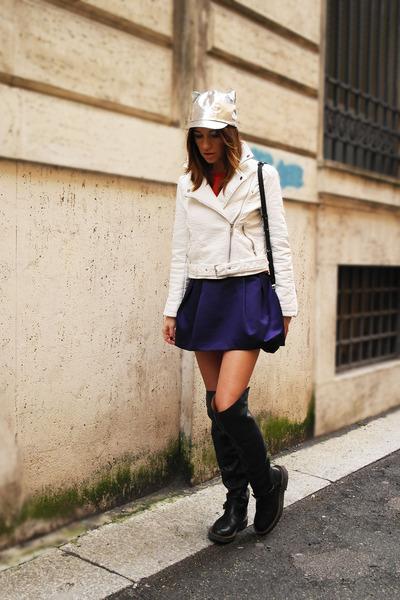 Martin Maison Margiela boots - Tsumori Chisato hat - Bershka jacket