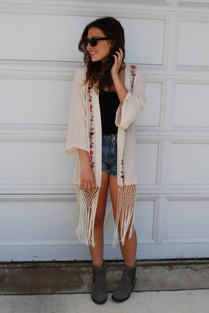 booties Steve Madden boots - denim shorts free people shorts