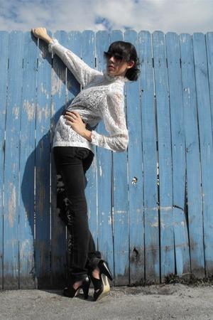lace victorian top wwwpunkv0ugecom blouse - blue checkered blazer wwwpunkv0ugeco
