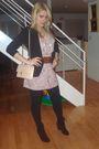 Charlotte-russe-blazer-forever-21-dress-forever-21-belt-dco-boots-americ