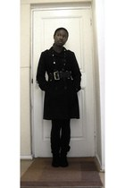 ruched calf Errol Arendz boots - double breasted Fashion World coat - Mr Price l