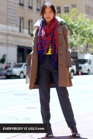 Michael Kors coat - Diane Von Furstenberg scarf - Nexx blouse