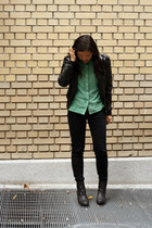 black H&M boots - black Target jacket - black Levis pants