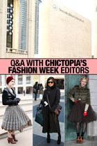 Q&A With Chictopia's Fashion Week Editors