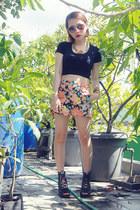 aviator Mango sunglasses - floral print Chloe Room shorts