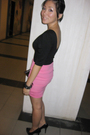 Black-nyla-dress-pink-macaroon-skirt-black-qupid-shoes-purple-accessories