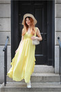 Light-yellow-yesfor-dress-off-white-dkny-wedges
