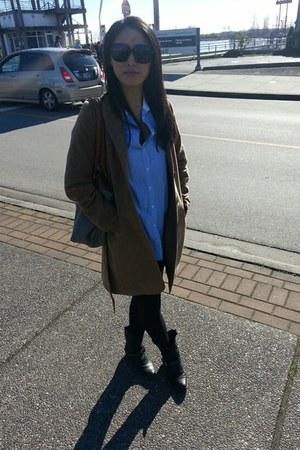 H&M jacket - Aritzia shirt - Prada sunglasses