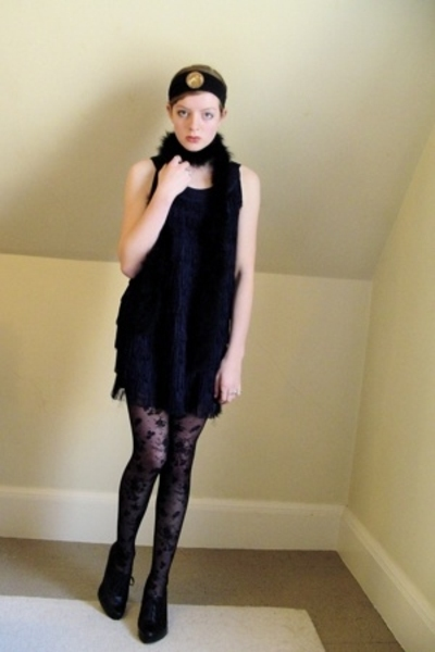 H&M dress - H&M tights - Nine West shoes - DIY accessories - vintage accessories
