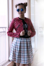Hot-pink-kpopsicle-jacket-black-cgbcn-shirt-bubble-gum-boohoo-skirt