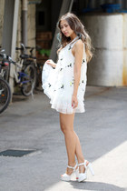 white blackfive dress - white Zappos sandals