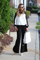 black lovemartini sweater - white leather StyleMoi bag - black blackfive pants