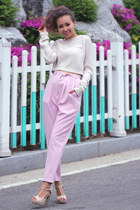 neutral knot Nordstrom top - bubble gum Stylenanda pants