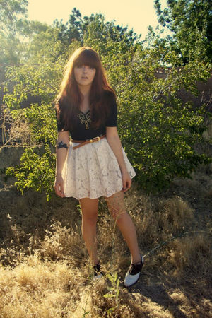 black thrifted suit - brown Thrifted Ralph Lauren shoes - white f21 skirt - brow
