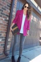 hot pink vintage dior christian dior blazer - black Target boots