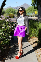 hot pink bubble Forever 21 skirt - black beaded vintage jacket