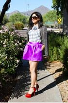 hot pink bubble Forever 21 skirt - black beaded vintage jacket