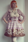 Light-purple-bodyline-skirt-light-pink-h-m-cardigan