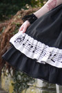 Black-lolita-skirt-handmade-skirt-white-headbow-btssb-accessories