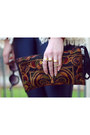 Mustard-silk-scarf-vj-style-scarf-crimson-embroidered-bag-thaihandbags-bag