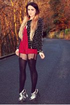 black Zara jacket - black pretty polly House of Holland tights