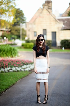 Nasty Gal top - mesh skirt Style Societe skirt