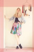 thrifted shop skirt - Vans sneakers - Primark top