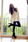 Black-oasap-boots-navy-american-apparel-leggings-cream-monki-jumper