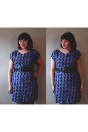 violet handmade dress - black Zara belt