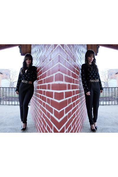 OASAP sweater - inlovewithfashion heels - Choies pants - romwe belt