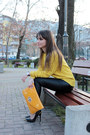 Yellow-romwe-sweater-black-inlovewithfashion-heels