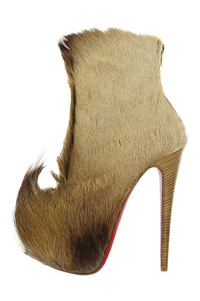 fur Christian Louboutin boots