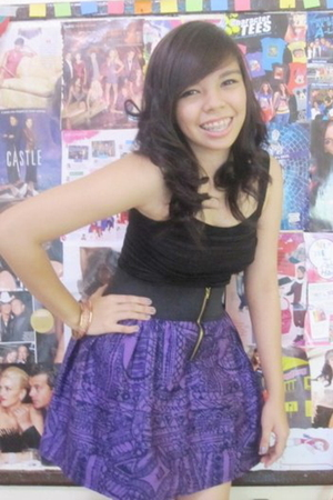 black People are People top - purple CoeurClothing skirt - pink  accessories - b