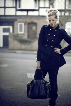 navy Primark coat - black Primark jeans - black Collete bag