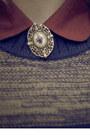 Brick-red-primark-flats-navy-fedora-tk-maxx-hat-brown-vintage-blazer