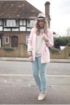 vintage blazer - mint Zara jeans - Forever 21 sweater - studded Topshop flats