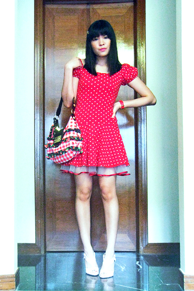 red Betsey Johnson dress - red