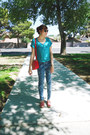 Sky-blue-aeropostale-jeans-red-taiwan-bag-white-guess-sunglasses